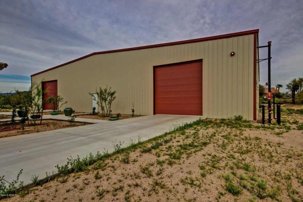 Cave Creek Arizona Car Enthusiasts Dream Large shop and smaller home with beautiful acreage and mountain views.